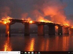 Мосты сожжены: на дороге из Мадмаса на Шиес сожгли мосты.