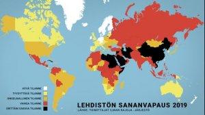 Финляндия поднялась на второе место в рейтинге свободы прессы (США занимают 49-ое, а Россия - 149-ое место в рейтинге)