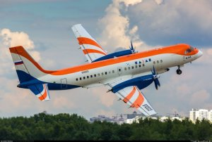 Новый пассажирский региональный самолет Ил-114-300 совершил первый…