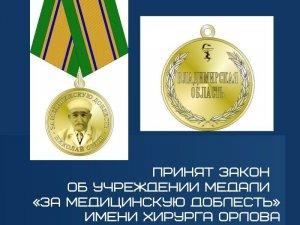 Депутаты ЗСприняли закон обучреждении медали…