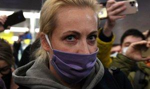 """""""Очень плохой свет"""": Жена Навального сообщила о своём задержании из…"""