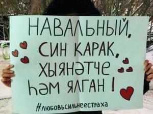 """""""Вляпались"""": сторонники Навального неправильно перевели содержание плаката…"""