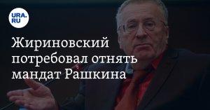 Жириновский потребовал отнять мандат у…