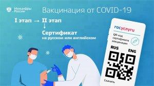 На Госуслугах доступны сертификаты о вакцинации на…