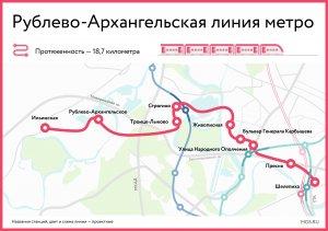 Видео проекта Рублево-Архангельской линии московского метрополитена с…