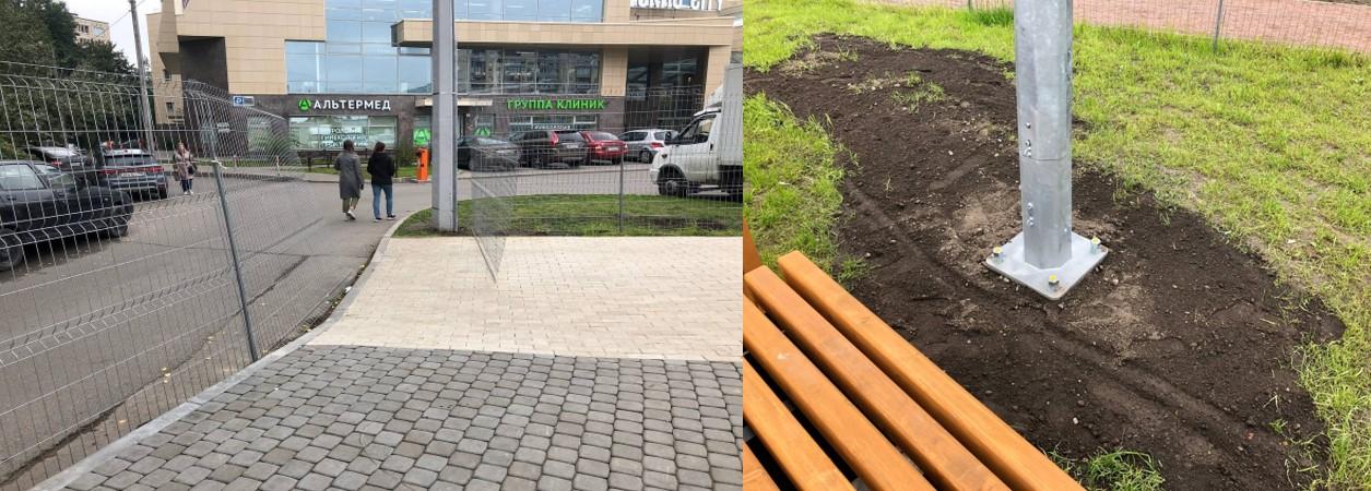 Беглов пафосно открыл страшненький сквер за 22 млн рублей