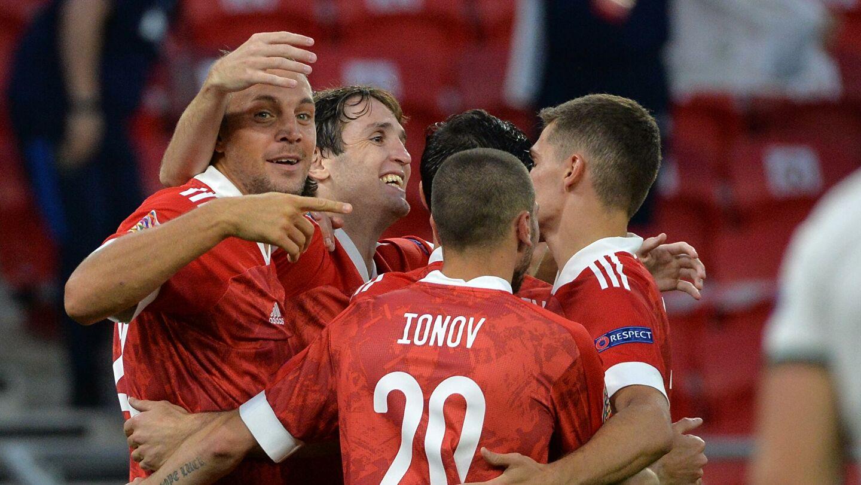 Сборная России одержала победу над Венгрией в матче Лиги наций